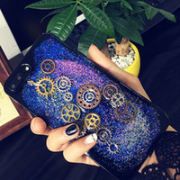 Wholesale Time Korea Fashion - for Iphone 6 6s 7 8 plus Fashion Korea Pretty Luxury Cute Vintage Time Gear Lovers Soft phone case cover