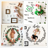 Wholesale Quilt Flowers - 12 Style Baby Blankets Swaddle Wrap Newborn Fashion Bathing Towels Flower Printed Cute Soft Blanket DIY Infant Kids Photography Props