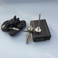 e nagelspulenheizung temperaturregler großhandel-Großhandel elektronische temperaturregler box Für DIY Raucher Nagel E D coil heizung mit Ti Nagel quarz nagel für glas bong