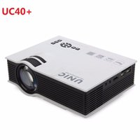 Atacado-Original UNIC UC40 + LED 3D Mini Pico Projetor Portátil 1080P Full HD Home Theater Vedio Projetores HDMI Multimedia Projetor