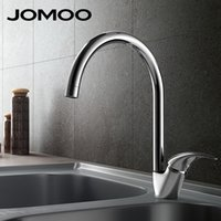 Wholesale Grifo Faucets - Wholesale- JOMOO Brass Kitchen Faucet Sink MixerTap Cold And Hot Water Kitchen Tap Single Hole Water Mixer torneira cozinha grifo cocina