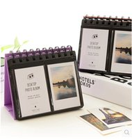 Wholesale Instant Case - Free shipping LY-PAP08 64pockets mini instant polaroid photo album picture case for instax mini film desktop photo album