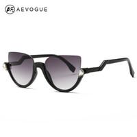 Wholesale Frameless Glass Hinges - Wholesale-AEVOGUE Sunglasses Women 2016 Newest Semi-Rimless Frame Z-Shaped Temple Metal Hinges Sun Glasses Brand Designer UV400 AE0357