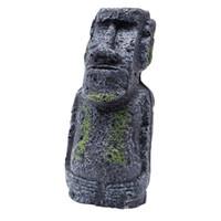 Wholesale Island Decoration - Easter Island Mini Statue Accessory Pipe Fish Tank Aquarium Decoration Ornament