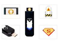 Wholesale Led Usb Rechargeable Lighter - Usb lighter rechargeable Flameless Cigar Cigarette Lighter LED Rechargeable Cigarette Flameless Lighter for cigarettes