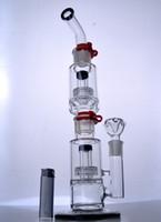 büyük boy toptan satış-Matris Perc Kalın Birdcage Perc Bongs ile Heady Büyük Cam Bongs Klipsler 18 mm eklem ile çıkarılabilir Tall Recycler Dab Rig