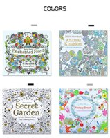 Wholesale Newest Children Books - Newest Secret garden adult English decompression hand-painted color in coloring book Enchanted forest children Coloring Books education toys