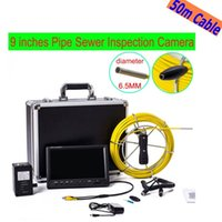 Wholesale System Pipe Inspection - free shipping WP91 50M Cable Pipeline Endoscope Underwater video inspection system 9'' LCD Pipe Drain Sewer Inspection Camera ann