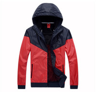 Wholesale sports clothes men - Fashion New Men Women Jacket Spring Autumn Fall Casual Sports Wear Clothing Windbreaker Hooded Zipper Up Coats