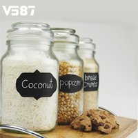Vente en gros - Vinyl Home Cup Container Chalkboard Sticker Labels Kitchen Jar Wall Cup Bouteille Sticker mural Blackboard Sticker Planner Mirror