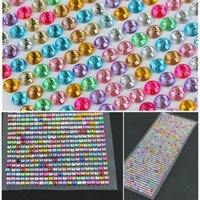 Wholesale Self Stick Rhinestones Crystals - Wholesale- 990pcs 4mm Rhinestones Self Adhesive Diamantes Stick On Crystals Beads Nail Art Car ASSORTED COLOR
