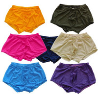 Wholesale Sports Boxer Briefs Mens - Mens Sexy Trunks Boxer Briefs Airy Eyelet Fashional Sport Panties G5555 Front Pouch Full Back
