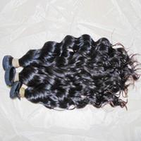 cabelo ondulado indiano virgem não processado venda por atacado-Onda Do Cabelo Natural Raw Água Virgem Ondulado Indiano Cabelo Humano Não Processado Wefts 300g / lote Armazém Rápido