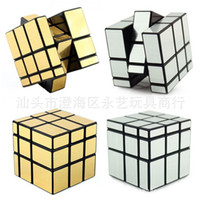 Wholesale Wire Cubes - Ultra Smooth Professional Mirror Golden Wire Drawing Culture Intelligence Special Shaped Puzzle Hand Twist Speed Development Kid Toys 5 8yyG