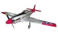Wholesale Mustang Electric - Wholesale- RC Warbird 1200mm P51 Mustang Airframe Kit without Electronics