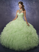Green Apple Quinceanera Dresses 2017 Mary's Princess con Bolero e Cascading Ruffles Organza Skirt Beautiful vestido 15 anos Custom Made