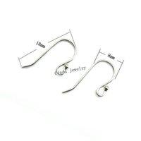 gümüş küpeler toptan satış-925 Ayar Gümüş Küpe Kanca Takı Bulguları Bileşenleri DIY Craft Takı Için 18mm 10 çift / grup Ücretsiz Kargo W045