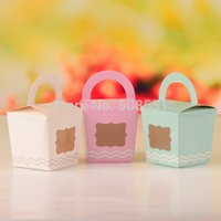 April Fool's Day case cake boxes - More Colors Paper Single Cupcake Cake Case Wedding Party Favor Muffin Pod Dome Holder Boxes with Handle and PVC Window