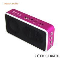 Wholesale Multi Media Mini Speaker - Wholesale- mini USB speaker FM radio Mini portable Multi-media mp3 player for Iphone Ipod MP3   MP4 notebook computer speaker