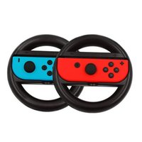 Wholesale Game Steering - Left Right Racing Game Steering Wheel Handgrip Handle Grip Holder for NS Switch Joy Con Controller Gamepad Retail Box