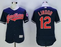 Wholesale Baseball Uniform Wholesale - Black Indians #12 Francisco Lindor Baseball Jerseys Top Selling 2016 Cheap Baseball Shirts Men Baseball Uniform Stitched