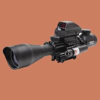 láser punto rojo para fusiles al por mayor-ohhunt Caza Airsofts Visor de rifle 4-12X50EG Pistola de aire táctica Punto rojo Visor láser Alcance Óptica holográfica Visor de alcance