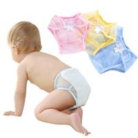 pañal transpirable al por mayor-2017 infantil pañales de algodón cubierta de tela de malla transpirable reutilizable pañal bebé cubre los pantalones de los cabritos del pan C2690