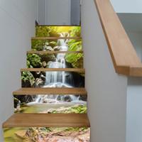 Tapeten GüNstiger Verkauf 3d Kirschblüte Baum Treppen Aufkleber Wandbild Diy Landschaft Hause Treppen Wand Aufkleber Papier Für Wohnzimmer Tapete Heimwerker