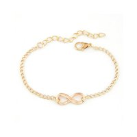 Wholesale Cheap Girls Charm Bracelets - Wholesale-Realy Cheap New Classic Women Men Girls Silver Handmade Gift Charm 8 Shape Jewelry Infinity Bracelet Gold Sliver Free Shipping