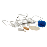 Wholesale bathtub tray resale online - Stainless Steel Bathtub Rack Shower Organizer Bathtub Caddy Tray with Extending Sides and Adjustable Book Holder Not Rust