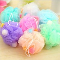 Wholesale Mesh Bath Towel - Loofah Flower Bath Ball Bath Tubs Cool Ball Bath Towel Scrubber Body Cleaning Mesh Shower Wash Sponge YYA298