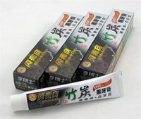 Wholesale Teeth Whitening Sale - Hot sale charcoal toothpaste white and clean whitening black toothpaste bamboo oral hygiene tooth paste high quality by dhl