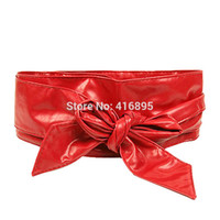 Wholesale Sculpted Bows - Wholesale- women belt Rao circle soft leather bow women's belts body sculpting girdle wide belt tying Wide  Wide Elastic Belts Female