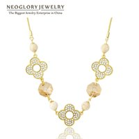 Wholesale Swarovski Element Jewellery - MADE WITH SWAROVSKI ELEMENTS Crystal 2017 Fashion Chain Necklaces Brand Charm Designer Gold Plated Jewellery Neoglory