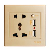 Wholesale 2017 new pc Dual USB Electric Wall Charger Dock Station Socket Power Outlet Panel Plate