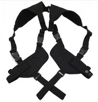 Wholesale Double Pistol Magazine Pouch - EDC Left Right Hand Tactical Nylon Adjustable Double Concealed Under Arm Shoulder Holster Pouch for Draw Pistol Hand Gun