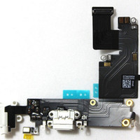 Wholesale Dock Charge Iphone - Original Dock Connector USB Charging Port and Headphone Audio Jack Flex Cable Ribbon for iPhone 5 5s 5c 6 Plus Black or White