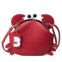 Wholesale Black Crab - crab bag cute women messenger bags for girls brand designer clip animal bag Coin purses and handbags shoulder phone bags female