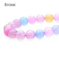 Wholesale Pink Agate Gemstone Beads - 4-14MM Natural Morgan Agate Round Loose Beads Gemstone For Jewelry Making S-105 Stome