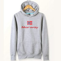 Wholesale jackets norway - Norway flag hoodies Classic designer sweat shirts Country fleece clothing Pullover sweatshirts Outdoor sport coat Brushed jackets