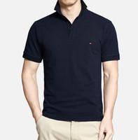 Camisa polo de los hombres Slim Fit de manga corta de los hombres de la ropa  de la marca de negocios informal de verano para hombre camisas de polo  bordado ... dcc3a0dcc66