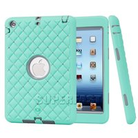Wholesale Packaging For Ipad Skins - For iPad Mini 4 Diamond Crystal Case For iPad Mini 1 Rugged Gel Protector Case For Mini 2 Shockproof Case with OPP Package