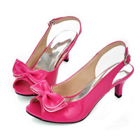 Wholesale Sexy Red Sandals Low Heel - Wholesale-Women Sandals womens sexy peep toe low heel sandals bow slingbacks women summer sandals shoes big size 13 14 15 34-46 A-09
