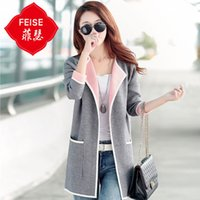 Wholesale Big Funding - Wholesale- Fe Mr Han edition of new fund new autumn winters in female long cardigan sweater thin sweater female coat loose big yards