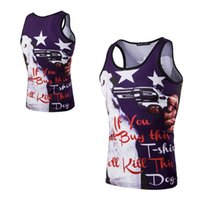 Wholesale Wholesale Mosaic Clothes - Wholesale- Summer Men Tank Tops Fashion Unique 3D Mosaic Star Pattern Letter Print Sleeveless T-shirt Vest Male Casual Fitness Clothing B2