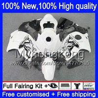 Wholesale Dragon Mold - Dragon white Body Bodywork For SUZUKI Hayabusa GSXR1300 96 07 2002 2003 2004 15LQ1 GSX R1300 GSXR-1300 GSXR 1300 2005 2006 2007 Fairing kit