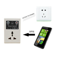EU Plug Smart Home Automation Wireless Switch Socket For Lighting Android Controle Remoto Sem Fio GSM Socket Power Smart Switch