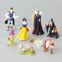 Wholesale Prince Gift Set - 8 pcs Lot Snow White & Seven Dwarfs Queen Prince Witch Classic PVC Toy Set Action Figures Toy Dolls Kids Gift
