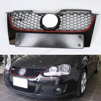 Wholesale Mesh Grills For Cars - Wholesale- Golf 5 MK5 ABS Car front bumper Mesh grill grille cover for VW Golf V MK5 GTI bumper 2006 2007 2008 2009