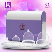 Wholesale Cupping For Massage - Home use vibration electro breast massage machine rechargeable with large medium small private vacuum cups for breast enlargement